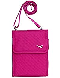 Shopo's Sling Passport Organizer Travel Passport And Document Holder With Zip For Credit Card Ticket Coins Money...