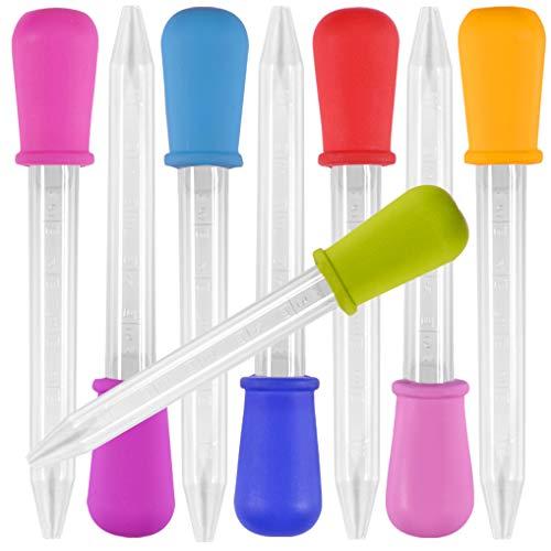8 Pieza Liquid Dropper, Yidaxing Silicona y Plástico Pipetas Transfer Cuentagotas para...