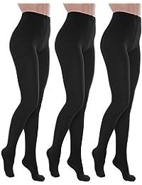 Toocool - Stock 3 pezzi calzamaglia donna calze collant termiche felpate nuove S-D6606