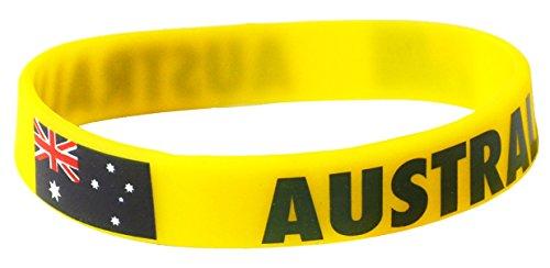Komonee Australien Gelbe Weltmeisterschaft Olympia Silikon-Armbänder (10er Pack)