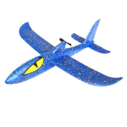 Dkings Flugzeug Spielzeug für Kinder, Werfen Schaum Flugzeug Flugzeuge DIY Segelflugzeug Modell Jet Kit Fliegen Spielzeug für Jungen Mädchen Jugendliche, Outdoor Sport Spiel Spielzeug Party (Blue)