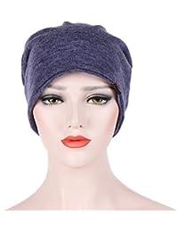 Mamum Turban Chimio Femme, Bonnet Chimio Turban de Musulman Bonnet Chapeau  pour Chimiothérapie, Cancer 6e387f9922f