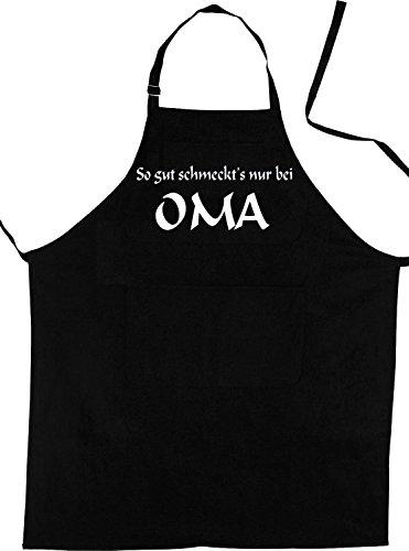 Grand-mère Tablier Aussi Bien schmeckts seulement chez grand-mère – – Tablier (Bavoir Tablier – Griller, cuisson, de cuisson professionnelle Habillement), noir