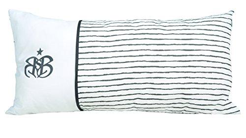 roba Dekokissen, Kissen Kollektion 'Rock Star Baby 3' 30x60 cm, Deko für Baby- & Kinderzimmer, 100% Baumwolle