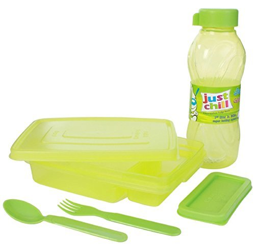 Hungry Baby Geschenk Set Lunchbox mit Wasser Flasche/Set von 2 (Für Flasche Wasser Lunchboxes)