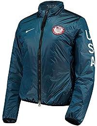 0e23fd9de9f4 Nike NikeLab Women s Blue Team USA Full-Zip Midlayer Jacket