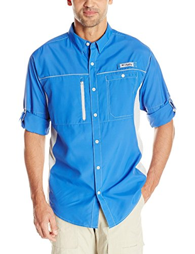 Columbia Sportswear Herren Langarmshirt Solar Drag, Herren, Vivid Blue/Jupiter, Medium