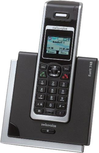Swissvoice Eurit 748 Schnurloses ISDN-Telefon (DECT) mit optischer Anrufsignalisierung inkl. FullEco-Mode