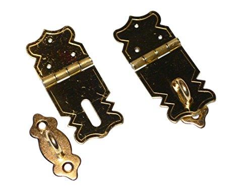 Basteln - Zierverschluss mit Oese - schraub u. nagelbar - 47/20mm - 1x2st