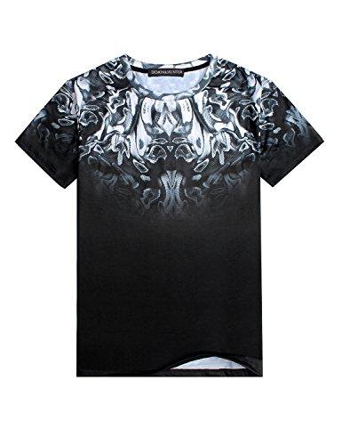 Demon&Hunter Herren Rundhalsausschnitt Kurzarm T-shirts 3D FD001132 Python