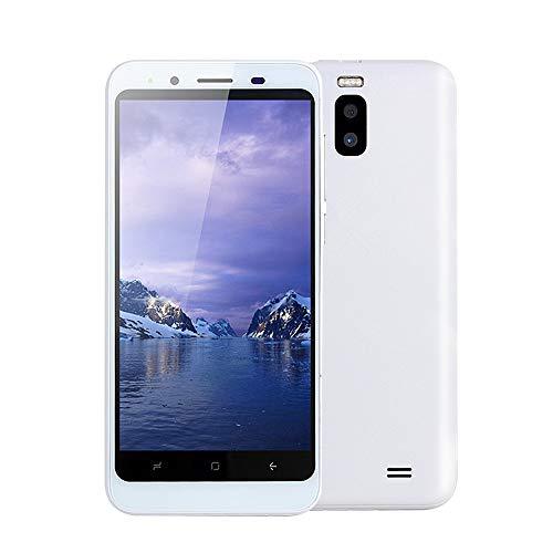 samLIKE Handy Dual SIM Smartphone Günstig Ohne Vertrag 512MB + 4GB GSM mit 4,7 Zoll Ultra-HD Bildschirm Ultradünn Dual Core Android 4,4 Cell Phone mit Dual Rückkamera, 3G + WLAN (Weiß) 3g Dual Core