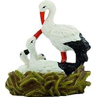 Cigüeña en el nido para belén Altura 5cm Adecuado para figuras de 11–12cm