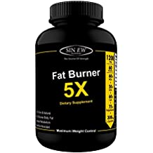 Sinew Nutrition Natural Fat Burner 5X (Green Tea, L-Carnitine, CLA, Green Coffee & Garcinia Cambogia Extract) - 1200 mg (60 Veg Capsules)