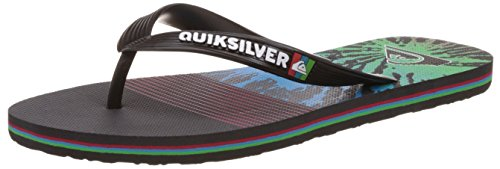 Quiksilver Molokai Ag47 Re M Sndl Xkbg, Tongs homme Noir - Black/Red/Green