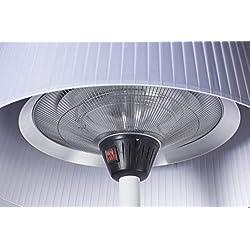 FAVEX - Parasol chauffant électrique Sirmione Blanc- Extérieur - 3 Puissances de Chauffe - Économique - 74 x 74 x224 cm