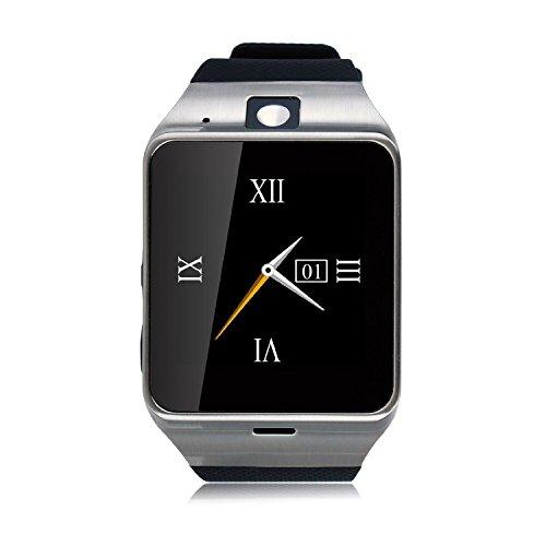 Bluetooth 3.0 reloj inteligente 1.54 NFC,Cámara,TF/tarjeta SIM ranura con podómetro función anti-perdida para Samsung, HTC, LG, Sony, Huawei,Xiaomi teléfonos inteligentes Android y iOS