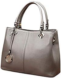 afc1092bbe973 Dhrfyktu Damen Rosa Handtasche Casual Atmosphere Wild Messenger Tasche  (Color   Gray)