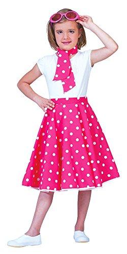 Mädchen Kostüm Rock Roll Und (Fifties Tellerrock für Mädchen)