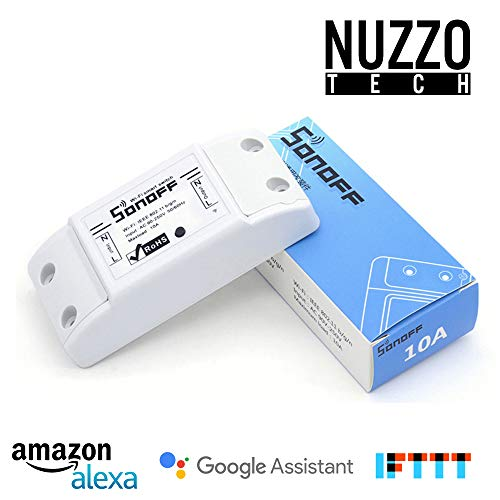 Nuzzo Tech - Sonoff Smart WiFi interruttore telecomando wireless, compatibile con iOS e Android, compatibile con ALEXA, Google Home assistente, nido, Ifttt 1 Confezione