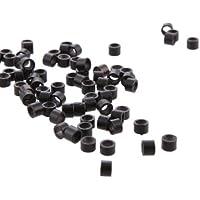 PDHU 500 extensiones de pelo para tubos de eslabones de micro anillas, color negro