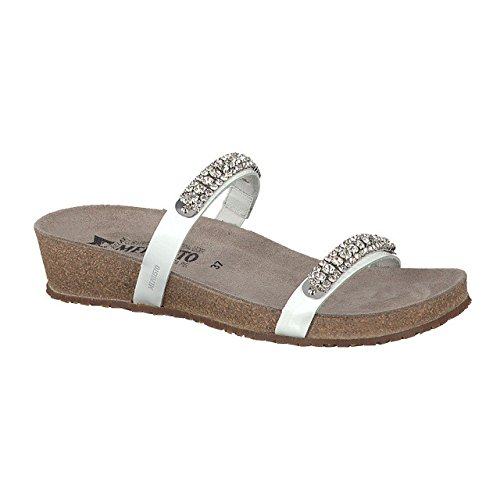 Mephisto Womens Ivana Leather Sandals Blanc