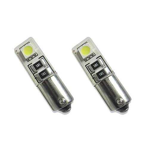 UNB9C2W - Standlicht, Kennzeichenbeleuchtung, Leseleuchte, Kofferraumbeleuchtung, Türbeleuchtung, Fussraumbeleuchtung, LED Lampe Weiss Can Bus Metallsockel BA9S T4W