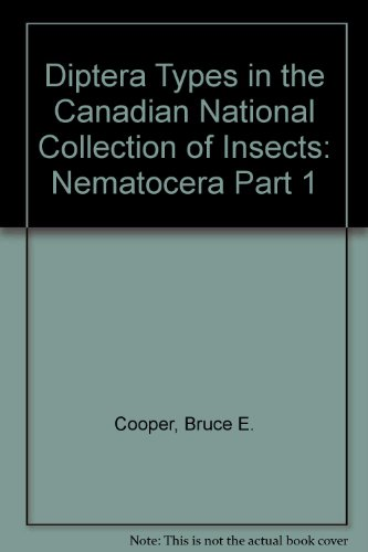 Diptera Types in the Canadian National Collection of Insects: Nematocera Part 1