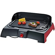Severin 2786 - Barbecue de table - 1600 W - plaque en fonte d'alu - noir/rouge (Certifié Reconditionné)