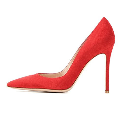 Cm Club Femme Edefs Rouge Chaussures Aiguille Talon Sexy 10 q6avwv