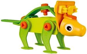 Meccano - 730130B - Jeu de Construction - Mini Build et Play - Œufs Dino - Tricératops