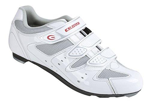 Exustar Chaussures pour vélo de course Blanc