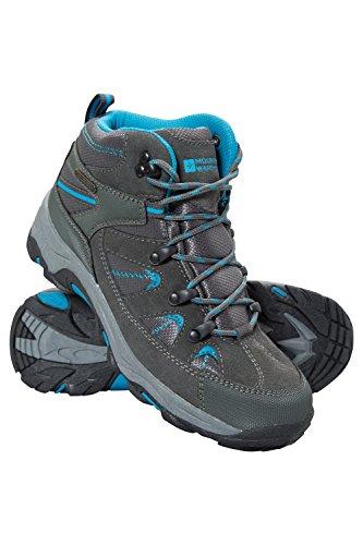 Mountain Warehouse Rapid Wasserfeste Stiefel für Damen - Wanderschuhe aus Wildleder und Netzstoff, Schuhe, Wanderstiefel mit Gummilaufsohle - Für Reisen, Camping Blaugrün 41 EU