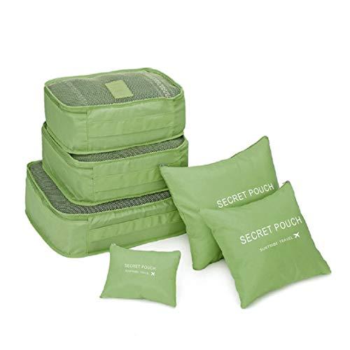 BlackPJenny Korean Style Portable Durable Eco-Friendly 6 PCS/Set Square Travel Home Luggage Storage Bags Clothes Organizer Pouch Case