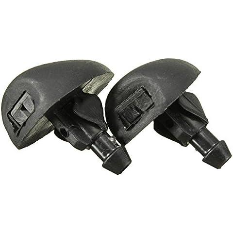 Tobera de limpiaparabrisas - SODIAL(R)Boquilla de agua de plastico de parabrisas delantero para CITROEN SAXO C4 XSARA Negro
