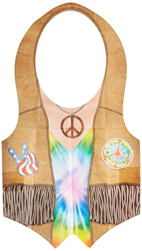 Beistle 66163 1er Pack Kunststoff Hippie Weste (60er Peace Child Kostüm)