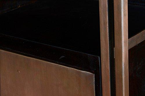 Vitrine massivholz 6 fächer highboard kommode bücherregal raumteiler schrank industrie design möbel - 5