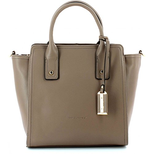 Sac à main cuir David Jones - Couleur TAUPE Marron