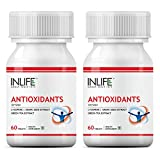 INLIFE Antioxidants Supplement Lycopene,Grape Seed Extract,Green Tea Extract Immunity - 60 Tablets (2-Pack)