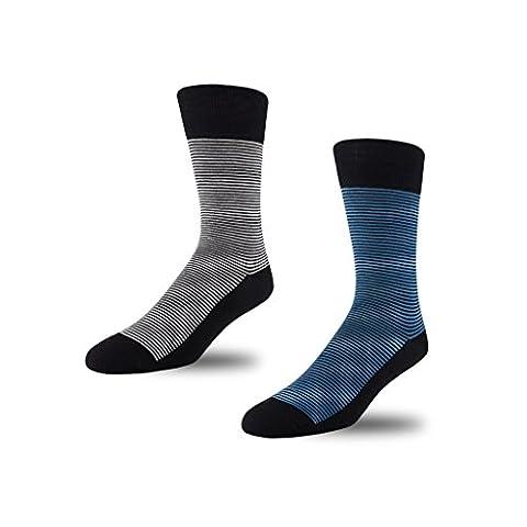 STÓR - Chaussettes basses - Homme noir noir Large - bleu - Medium