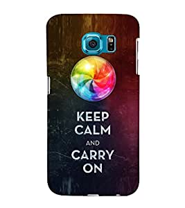 EPICCASE Carry on like a boss Mobile Back Case Cover For Samsung Galaxy S6 (Designer Case)