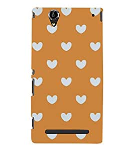 PrintVisa Love Heart Pattern 3D Hard Polycarbonate Designer Back Case Cover for Sony Xperia T2 Ultra :: Sony Xperia T2 Ultra Dual SIM D5322 :: Sony Xperia T2 Ultra XM50h