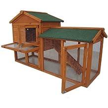 Bunny Business The Grove Clapier à deux étages avec enclos pour lapin et cochon d'Inde Vert menthe