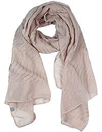 Glamexx24 Écharpe pour dames écharpe bandelette métallique tube tube écharpe  strass étole pour ... 40d917c78b2
