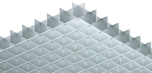 Lichtgitter Gitterrost Alu Gitter-Profil gemäß DIN 5035 | 1248 x 624 mm | Aluminium silberfarben eloxiert | MADE IN GERMANY | Möbelbeschläge von GedoTec® (Wand Louver)
