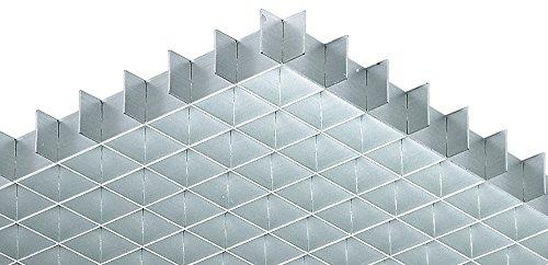 Lichtgitter Gitterrost Alu Gitter-Profil gemäß DIN 5035 | 1248 x 624 mm | Aluminium silberfarben eloxiert | MADE IN GERMANY | Möbelbeschläge von GedoTec®