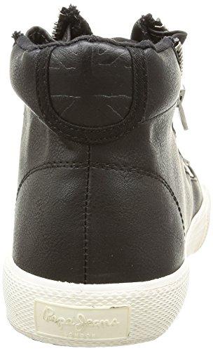 Pepe Jeans London Brother Zip, Sneaker Alte Uomo Nero (Noir (999Black))
