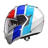 Caberg Duke II Impact Weib/Blau/Roter Motorradhelm Grobe XS