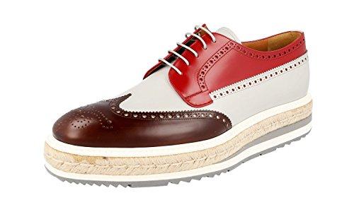 Prada 2EG015, Herren Schnürhalbschuhe, Bruciato Crista - Größe: 43 - Männer Prada Kleid Schuhe