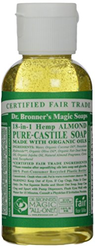 Dr Bronner Organic Almond Castile Liquid Soap 59 ml by Dr. Bronner -