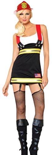 erdbeerloft - Damen Feuerwehr Frau, Kostüm, Karneval, Fasching, S, Mehrfarbig (Feuerwehr Frau Kostüm Kostüm)